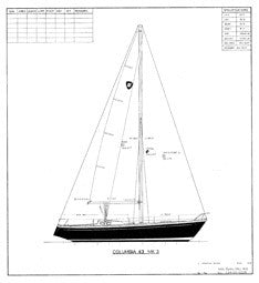 Columbia 43 Sail Plan - Mark III Tall Rig