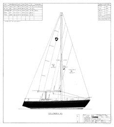 Columbia 43 Sail Plan - Mark III