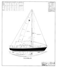 Columbia 45 Sail Plan