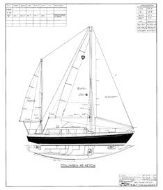 Columbia 45 Sail Plan - Ketch