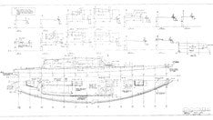 Columbia 45 Deck Lines Plan
