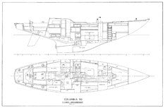 Columbia 50 3 Cabin Interior Plan