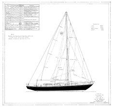 Columbia 50 Sail Plan - Tripp
