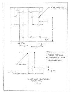Columbia 50 Starboard Foot Block Plan