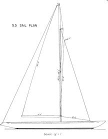 Columbia 5.5 Sail Plan