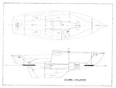 Columbia Challenger Interior & Starboard Profile Plan