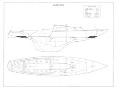 Columbia Sabre Interior & Starboard Profile Plan