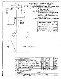 Columbia Yachts Shaft Log Plan