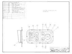 Columbia Yachts Instrument Panel Plan