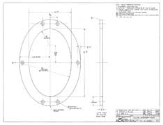 Columbia Yachts Interior Mast Collar Plan