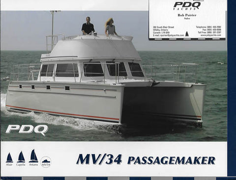 PDQ 34 Power Catamaran Brochure