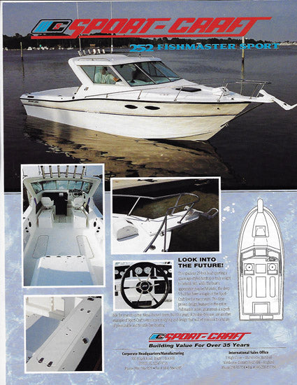 Sport Craft Fishmaster 252 Center Console Sport Brochure