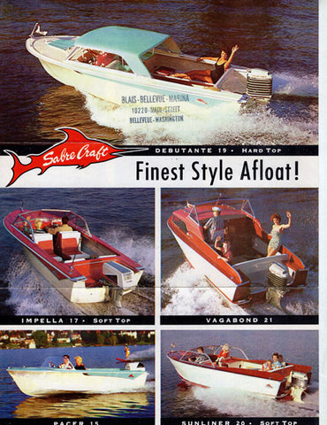 Sabre Craft 1960s Brochure