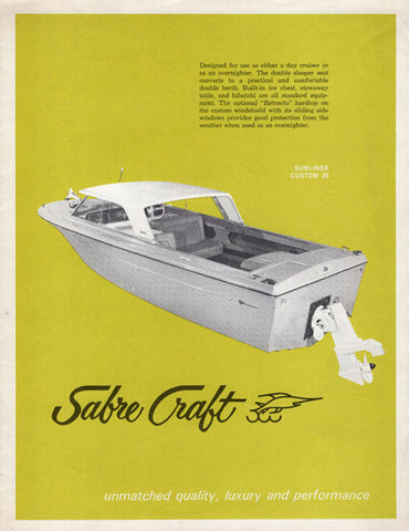AMI 1960s Sabre Craft Brochure