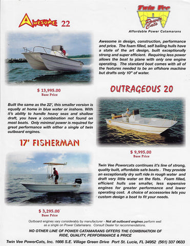 Twin Vee 17' - 22' Models  Brochure