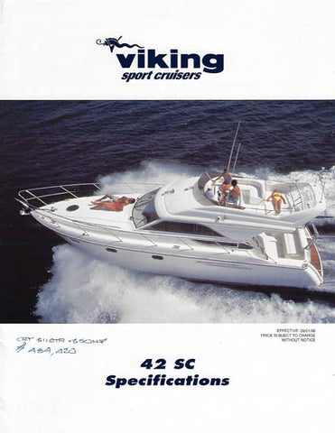 Princess Viking 42SC Specification Brochure
