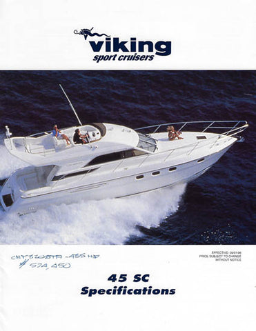 Princess Viking 45SC Specification Brochure