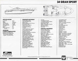 Wellcraft 34 Gran Sport Specification Brochure