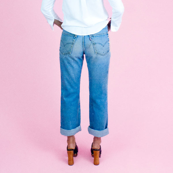 Levi's red tab distressed relaxed fit denim