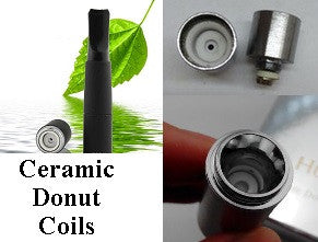 Ceramic Donut Coil Atmoizers (Wax and Dry Herb)