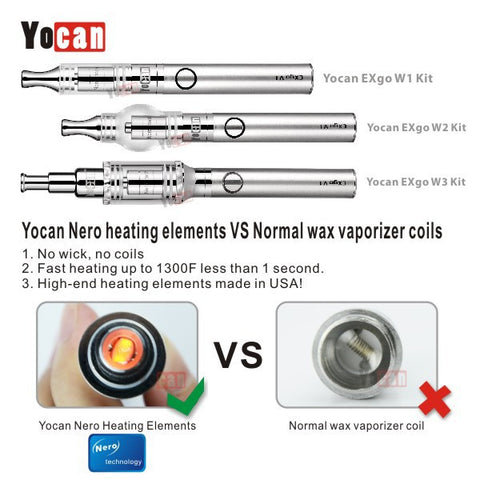 Yocan EXgo W1 Atomizer (Wax) with Nero Coil