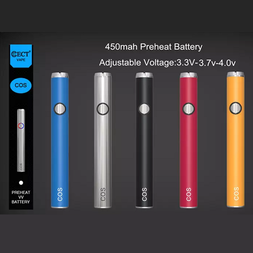 ECT COS 450mah Preheating Variable Voltage Battery Vape Pen Sales