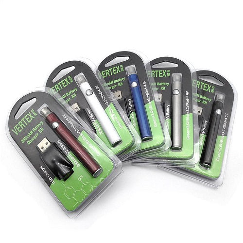 Vertex 350mAh VV Preheat Slim Style 510 Thread Vape Battery