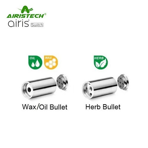Airistech Switch Replacement Dry Herb and Concentrate/Oil Bullets
