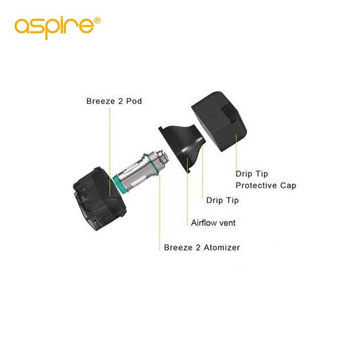 Aspire Breeze 2 Replacement Pod Vape Pen Sales