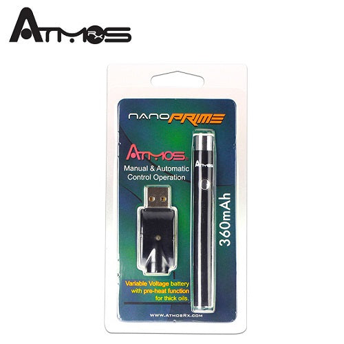 Atmos Nano Prime Dual Control Manual and Automatic Slim Preheat Vaping Battery