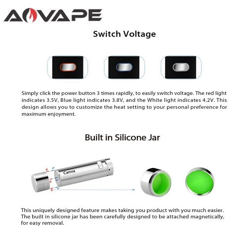 AOVape Canva VV Magnetic Wax Pen Kit Vape Pen Sales