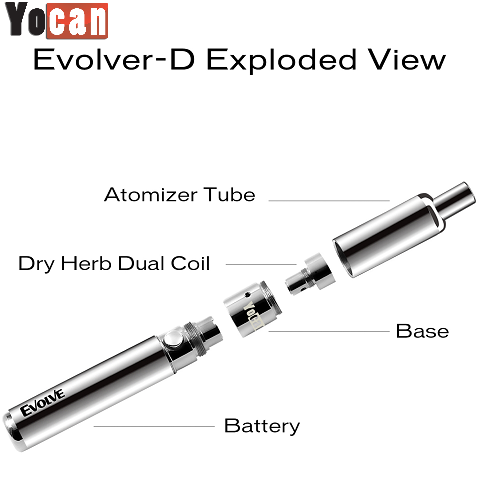 Yocan Evolve-D Rasta Edition Dry Herb Vape Pen Kit