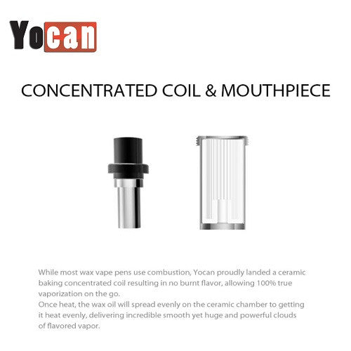 Yocan Explore Replacement Wax Coil and Mouthpiece