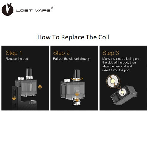 Lost Vape Q-Ultra AIO Replacment Pods and Coils