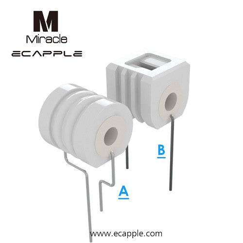 Ecapple Miracle Wax Atomizer Ceramic Replacement Coils - Vape Pen Sales - 2