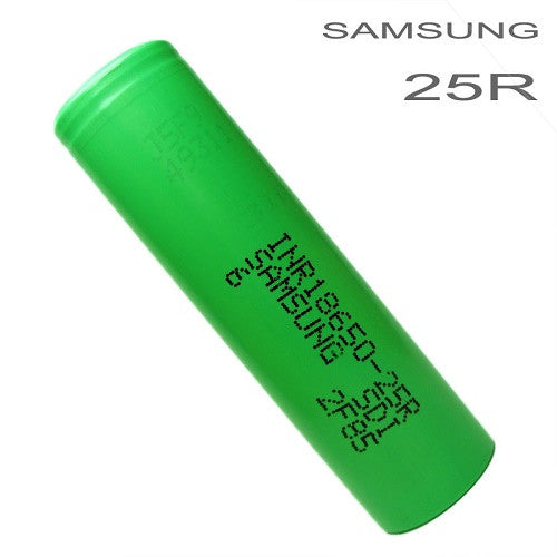 Samsung INR18650 25R 2500mah Flat Top 18650 Battery