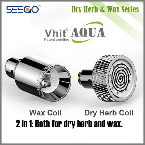 Seego Vhit Aqua Wax and Dry Herb Bubbler - Vape Pen Sales