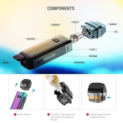 Smok Nord X 60W 1500mah Eliquid Vaping Kit