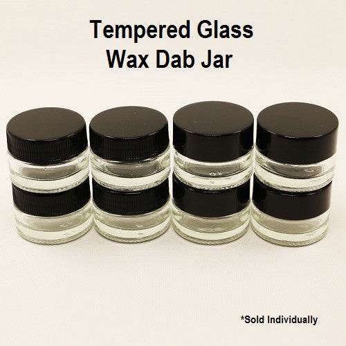 Tempered Glass Wax Dab Jar - Vape Pen Sales - 1