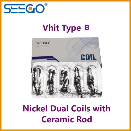Seego Vhit Type B Single or Dual Nickel Replacement Coil (wax, thick oil) - Vape Pen Sales - 3
