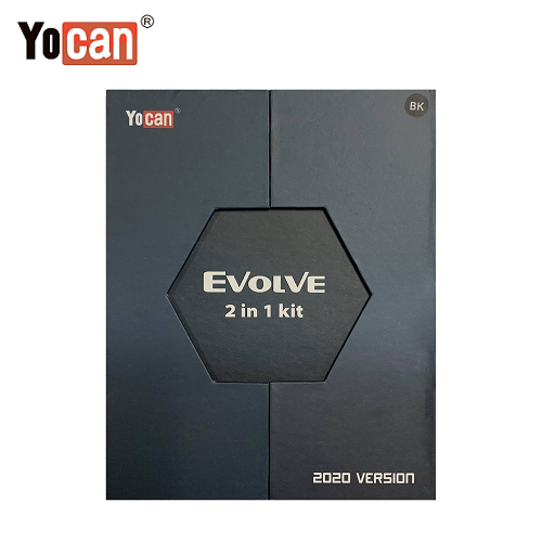 Yocan Evolve 2020 Version 2 in 1 Kit Box Front Vape Pen Sales
