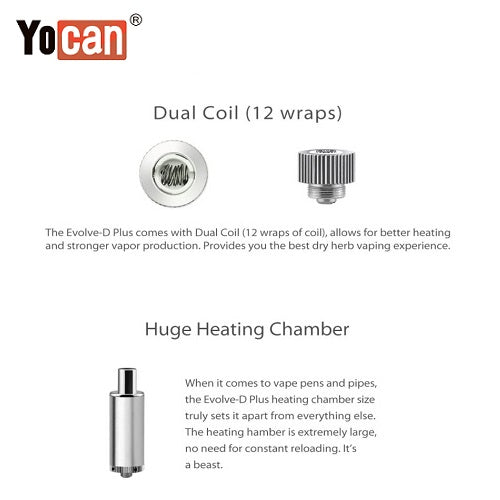 Yocan Evolve D Plus 2020 Version 2 in 1 Dry Herb Coil