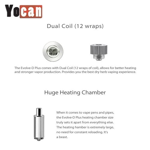Yocan Evolve D Plus Dry Herb Vape Pen Kit -2020 Version