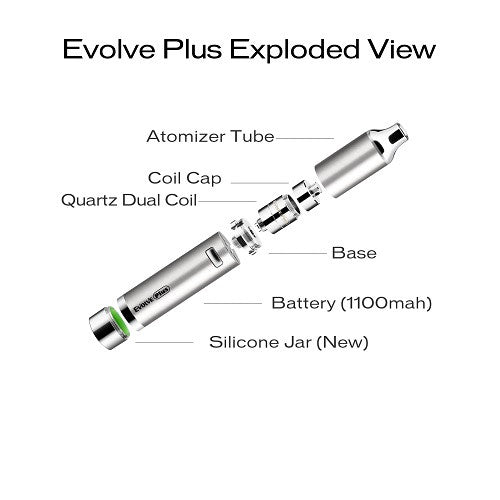 Yocan Evolve PLUS Quartz Dual Coil Wax Vape Pen KIt - Vape Pen Sales - 4