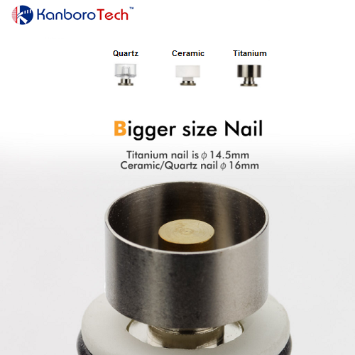 Kanboro Tech Replacement Titanium, Ceramic, and Quartz Nails