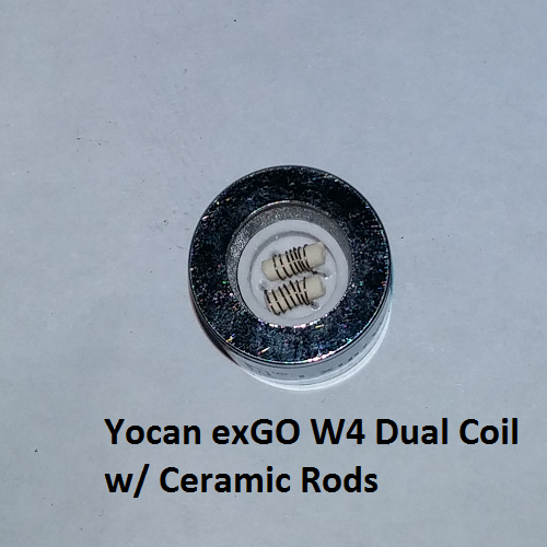 Yocan EXgo W4 Replacement Coil Dual Ceramic Rod or Nero (Wax) - Vape Pen Sales - 3