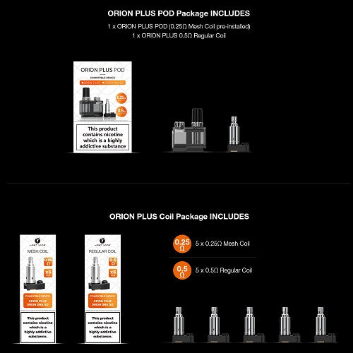 Lost Vape Orion Plus DNA COILS AND POD Vape Pen Sales