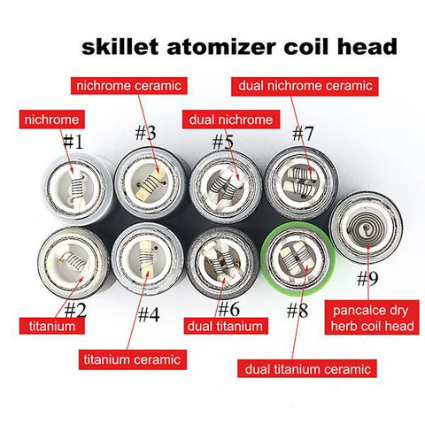 Skillet Wax and Dry Herb Pancake Coil Atomizer