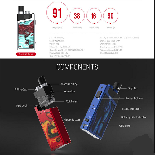 Smok Trinity Alpha Starter Kit Breakdown