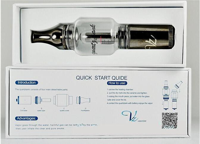 Q2 Quartz Tank Water Vaporizer for Dry Herb - Vape Pen Sales - 3